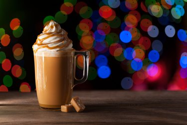 Salted Caramel Latte Starbucks holiday drinks calories