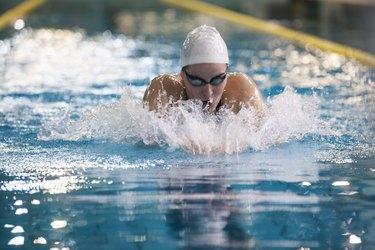 Female swimmer -  breaststroke style