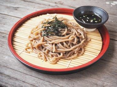 Soba noodles Japanese food