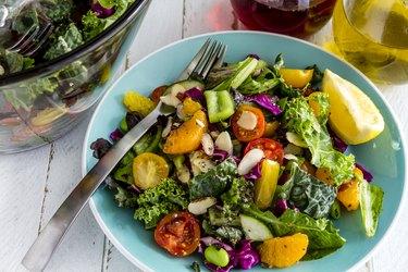 Organic Super Food Vegetarian Salad apple cider vinegar recipes