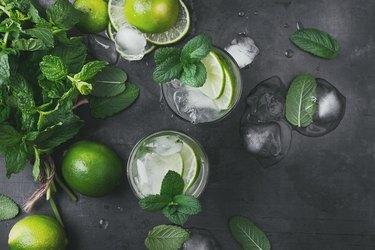 Refreshing summer drink mojito cocktail
