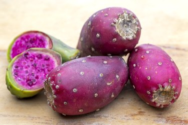 Prickly pear Opuntia cactus edible fruit