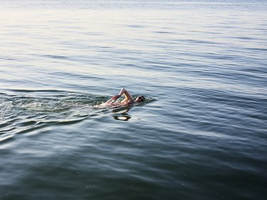 Female swimmer in the sea