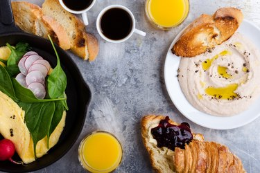 Healthy brunch table