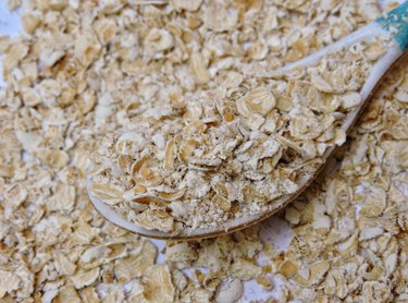 Oatmeal or crushed oat -The oat (Avena sativa) sometimes called the common oat, is a species of cereal grain grown for its seed. Mostly used as livestock feed. It is a healthy food rich in nutrients.