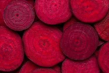 Beetroot slice closeup. Beetroot background.
