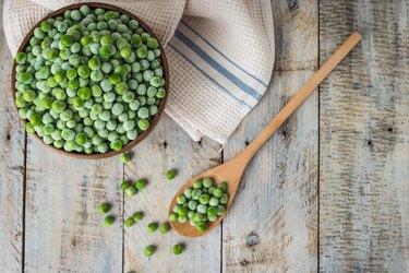 Fresh frozen peas.