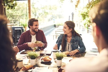 Food has a way of making the conversation better