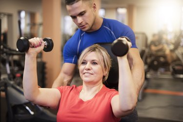 beginner strength training with a trainer