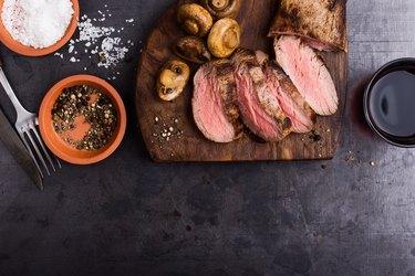 Roast beef fillet tenderloin