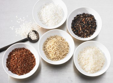 Several types of rice