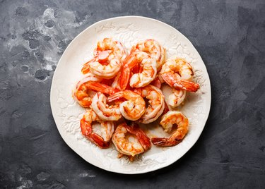 Roasted Prawns on white plate
