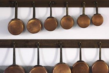 Copper pots and pans