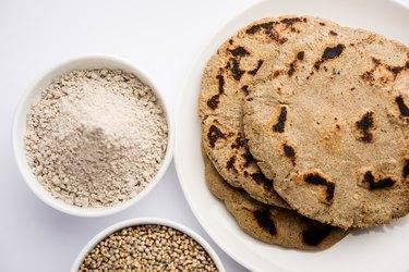 bajra / sorghum ki roti or pearl millet flat bread
