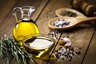 vitamin E-rich olive oil, garlic, pepper, salt and rosemary