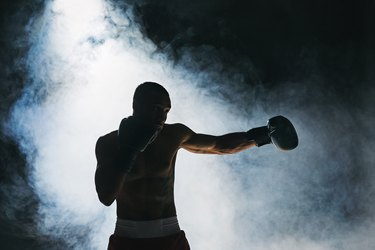 Afro american male boxer