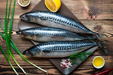 Raw sea fish