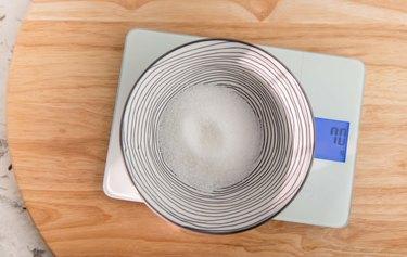 Bowl of granulated sugar