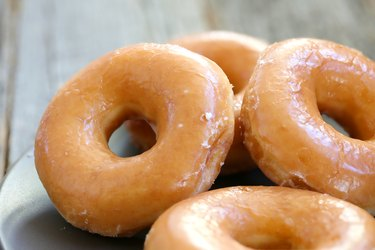 Glazed donuts, as an example of foods to avoid for weight gain
