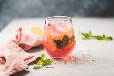 Fresh citrus cocktail or ice tea