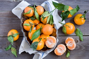 oranges top view