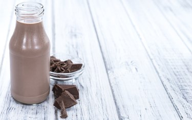 Fresh made Chocolate Milk