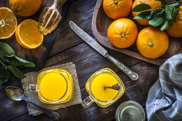 Preparing orange juice at home