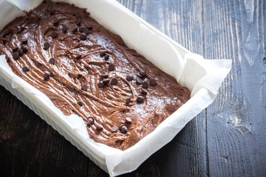 brownie or chocolate muffins raw dough