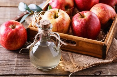 Bottle of unfiltered apple cider vinegar