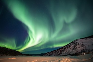 Aurora borealis,Yukon Territory,Canada