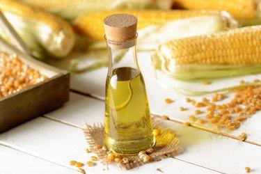 corn oil in the bottle