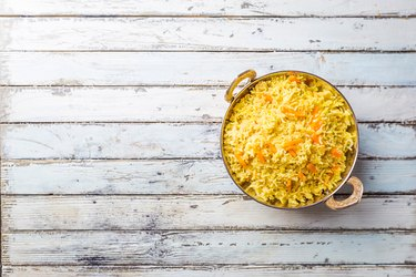 Basmati rice with curry