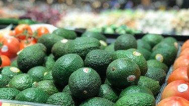 Full Frame Shot Of Avocados In Market
