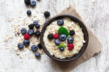oatmeal with ripe berries