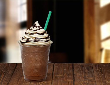 Frappuccino in takeaway cup