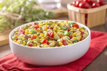 Succotash Corn Lima Beans Okra