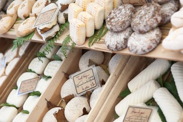 cheese shop with variety of cheeses