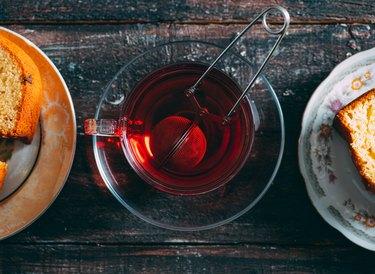 Top View Healthy Herbal Tea