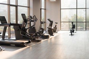 modern gym room fitness center equipment