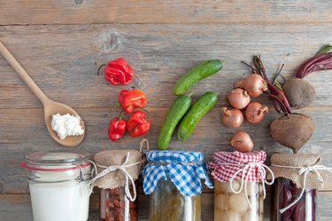 Naturally fermented foods, prebiotics, healthy for the gut