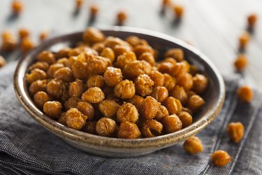 bowl of roasted chickpeas, as a natural remedy for insomnia