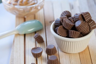 gluten-free Reese's peanut butter cups unwrapped minis