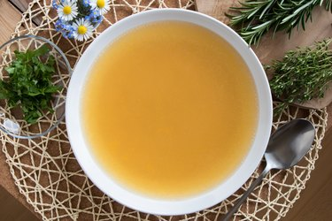 Bone broth made from chicken
