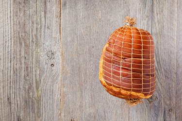 Smoked Boneless Ham Hock Wrapped in Netting