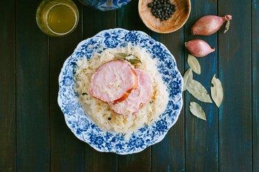 Sauerkraut and spareribs