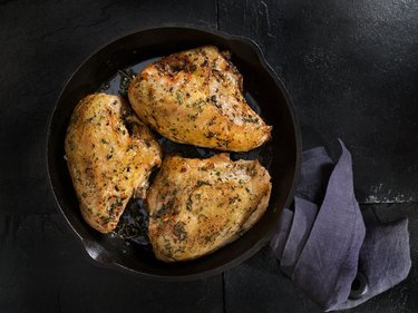 Grilled Bone in Chicken Breasts
