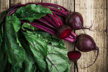 Fresh organic beetroot can cause dark stool