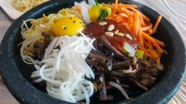 Korean traditional food Dolsot Bibimbap