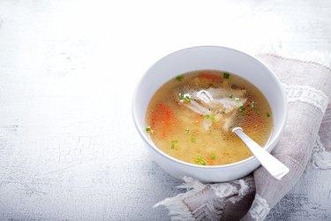 Fresh chicken soup