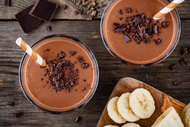 Chocolate malt with banana